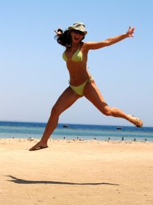 Mulher saltando